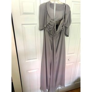 Jordan Dresses - Jordan Fashions grey & silver evening dress